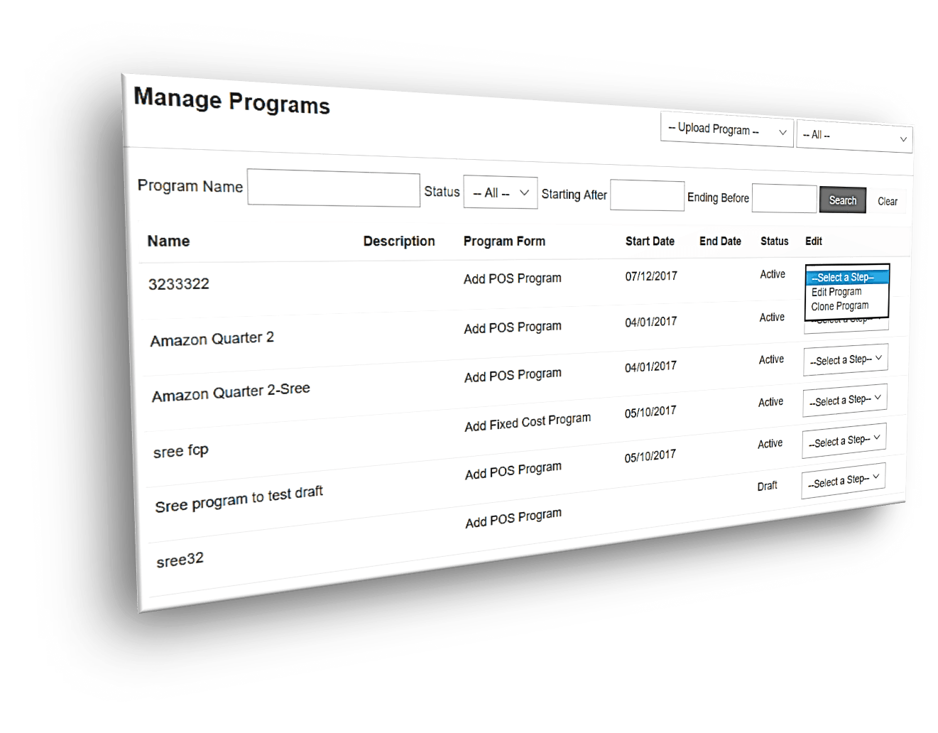 Manage channel programs