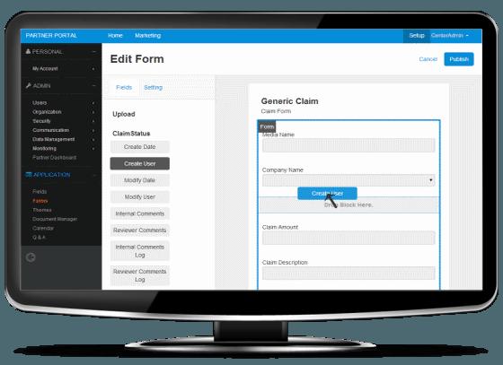 form builder-cmr partner portal