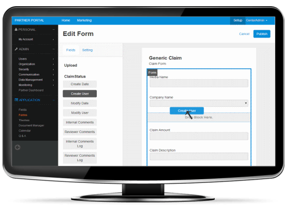 form builder-cmr partner portal