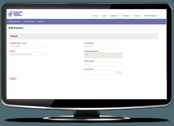 partner Payment-partner portal-CMR